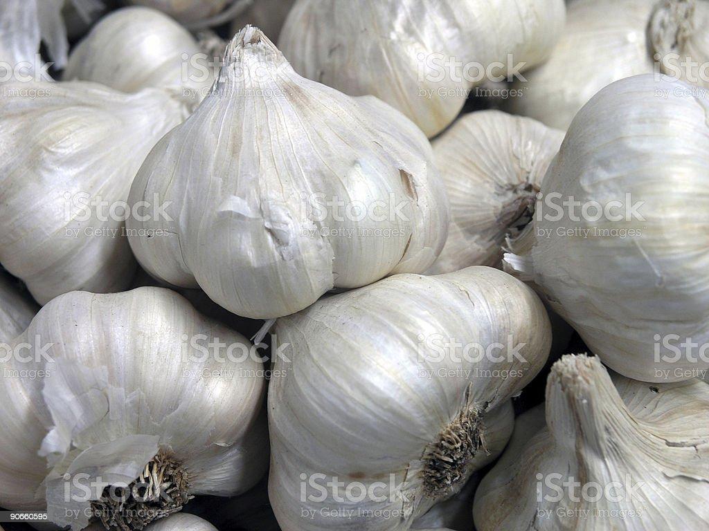 Organic garlic from the Victorian Market stock photo