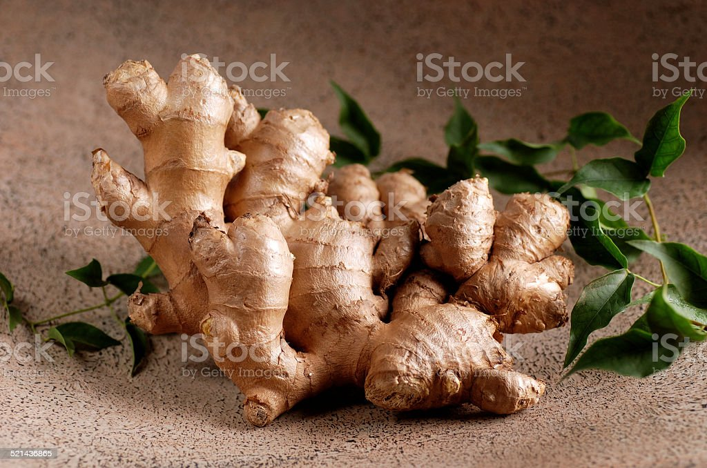 organic ginger in the foreground stock photo