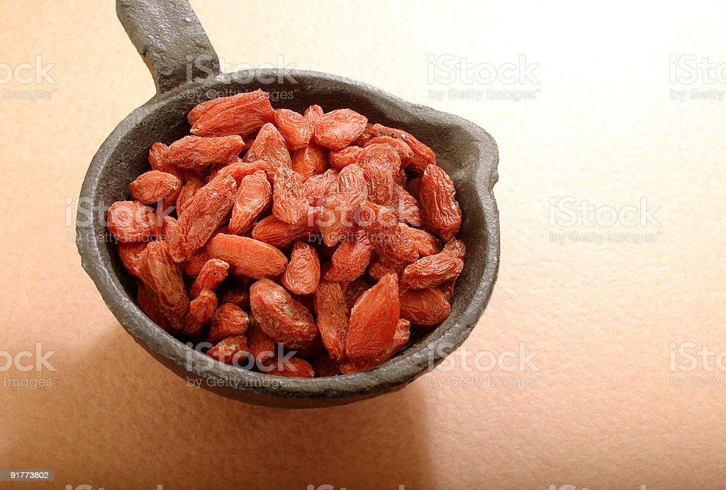 Organic Goji berries royalty-free stock photo