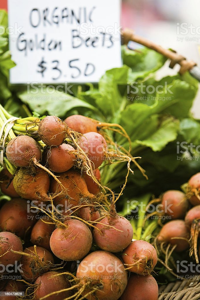 Organic Golden Beets stock photo