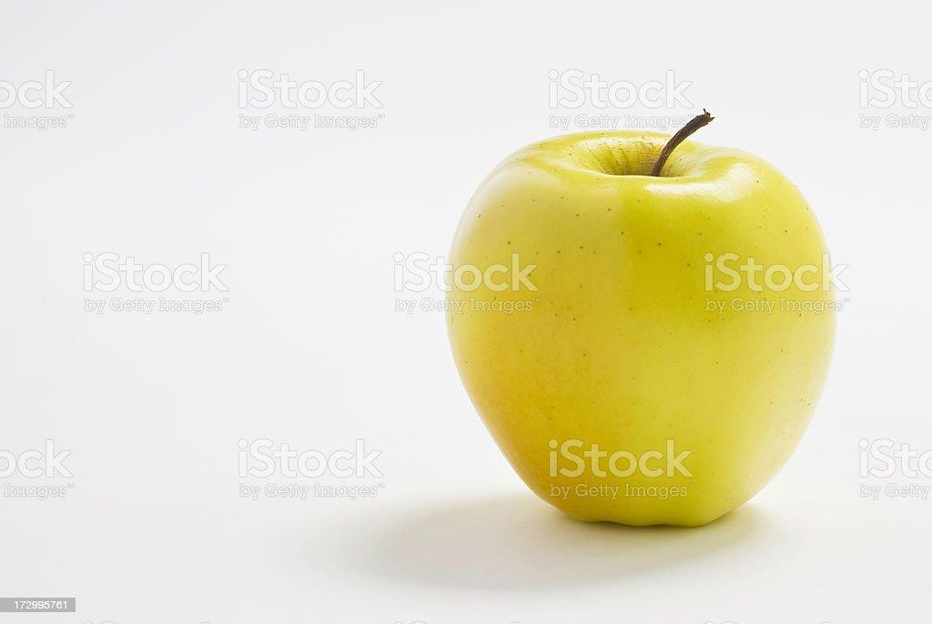 Organic Golden Delicious Apple stock photo
