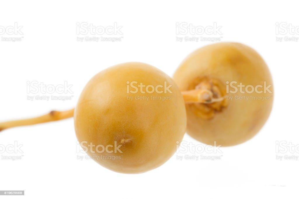 Organic Golden Fresh Dates Isolated stock photo