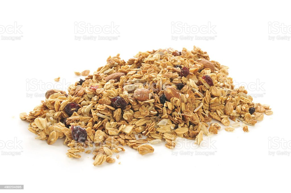 Organic granola stock photo