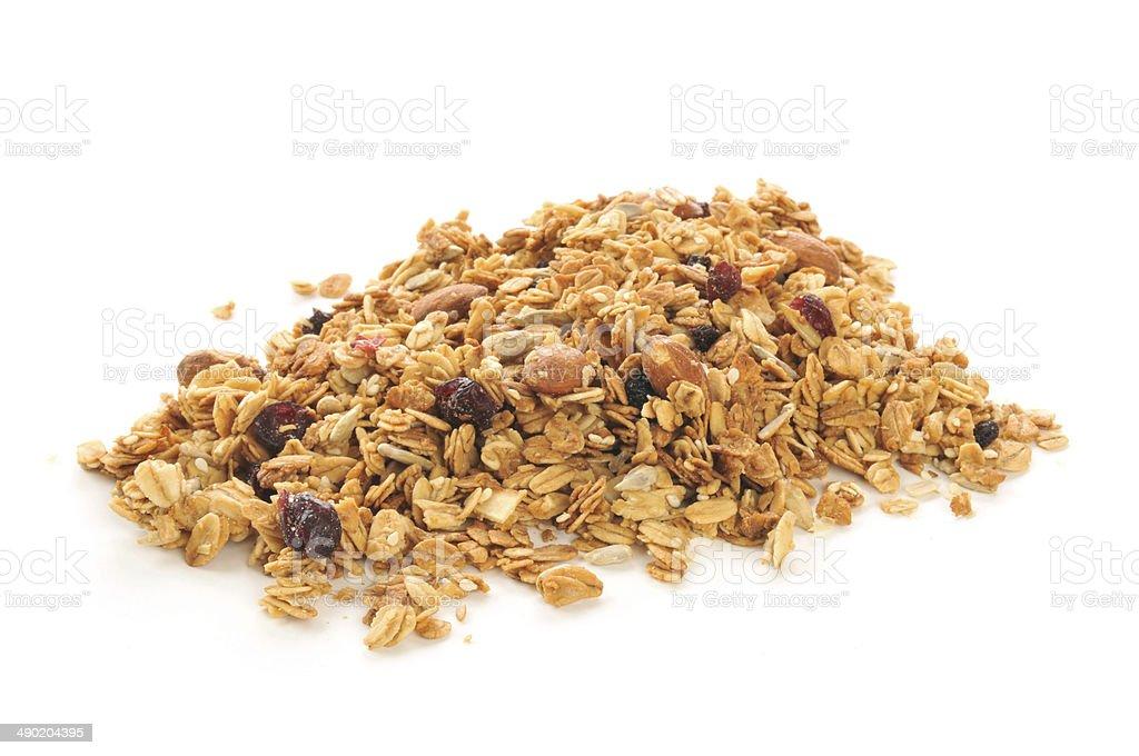Organic granola stock photo
