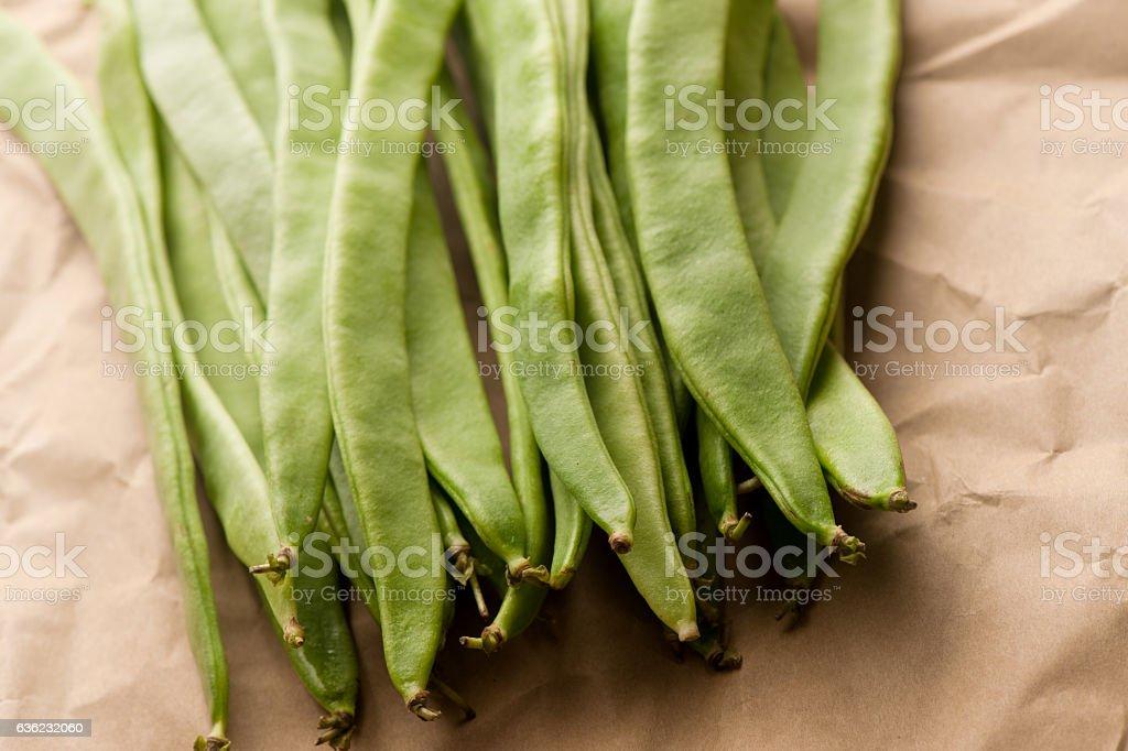 Organic green bean stock photo