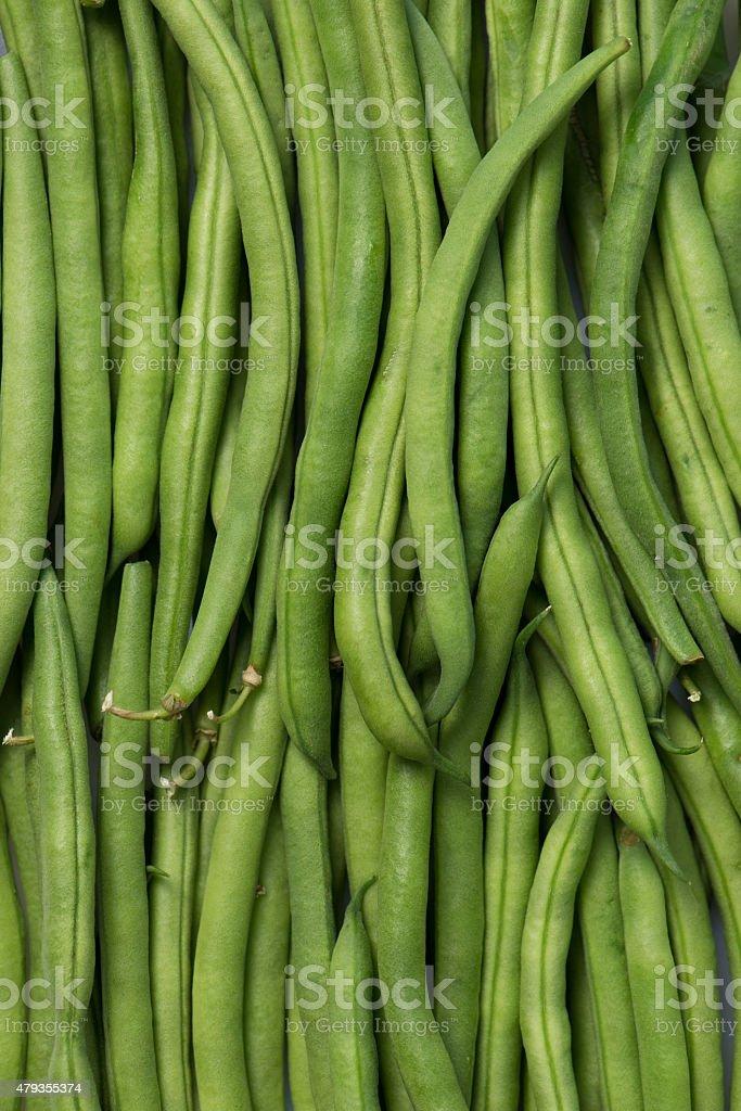 organic, green bush beans stock photo