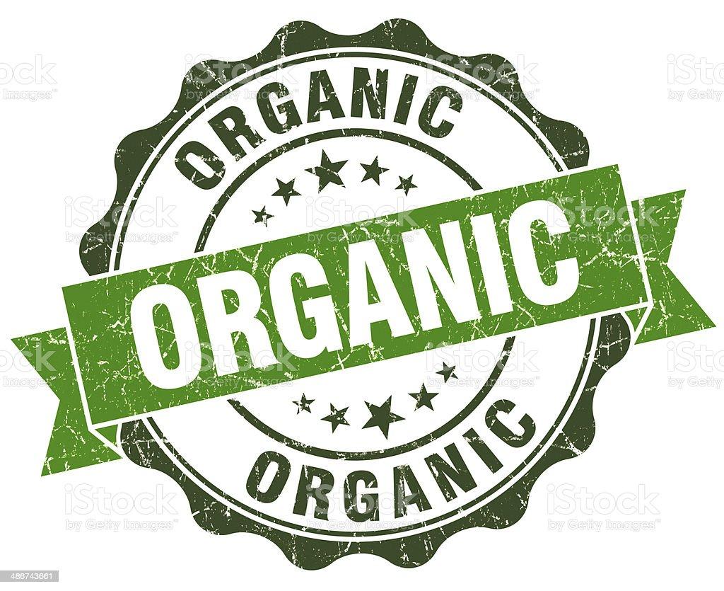 Organic green grunge retro style isolated seal stock photo