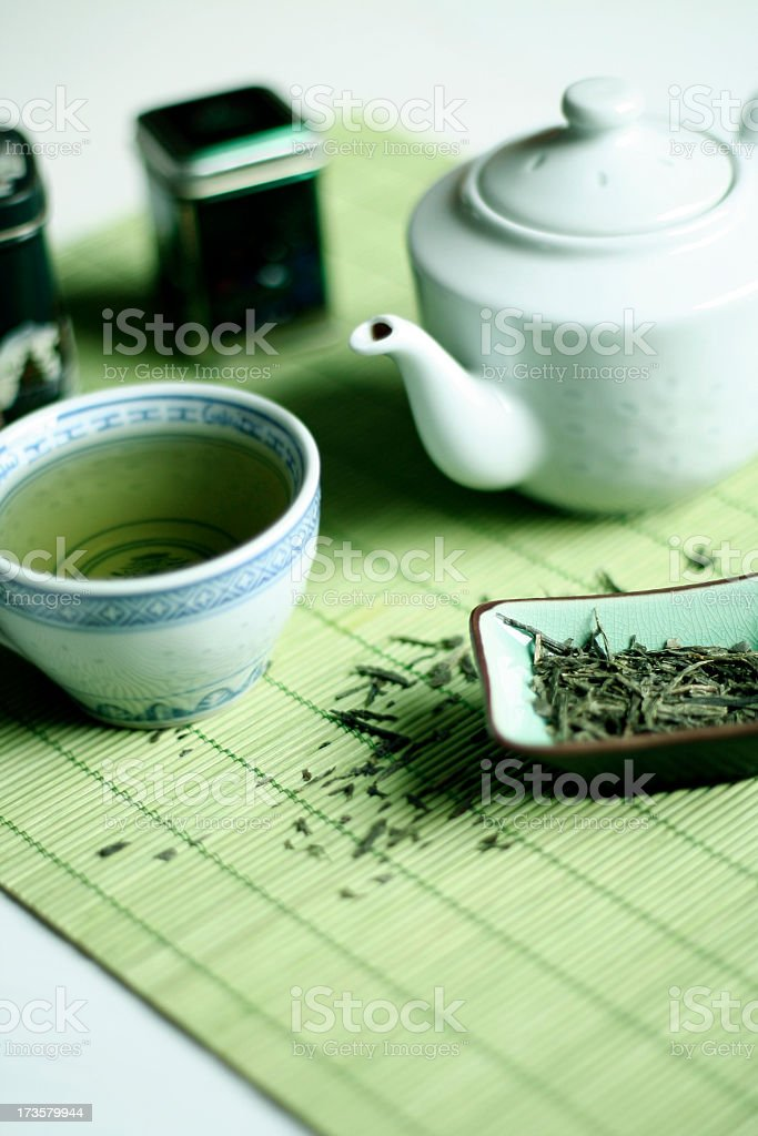 Organic Green Tea royalty-free stock photo