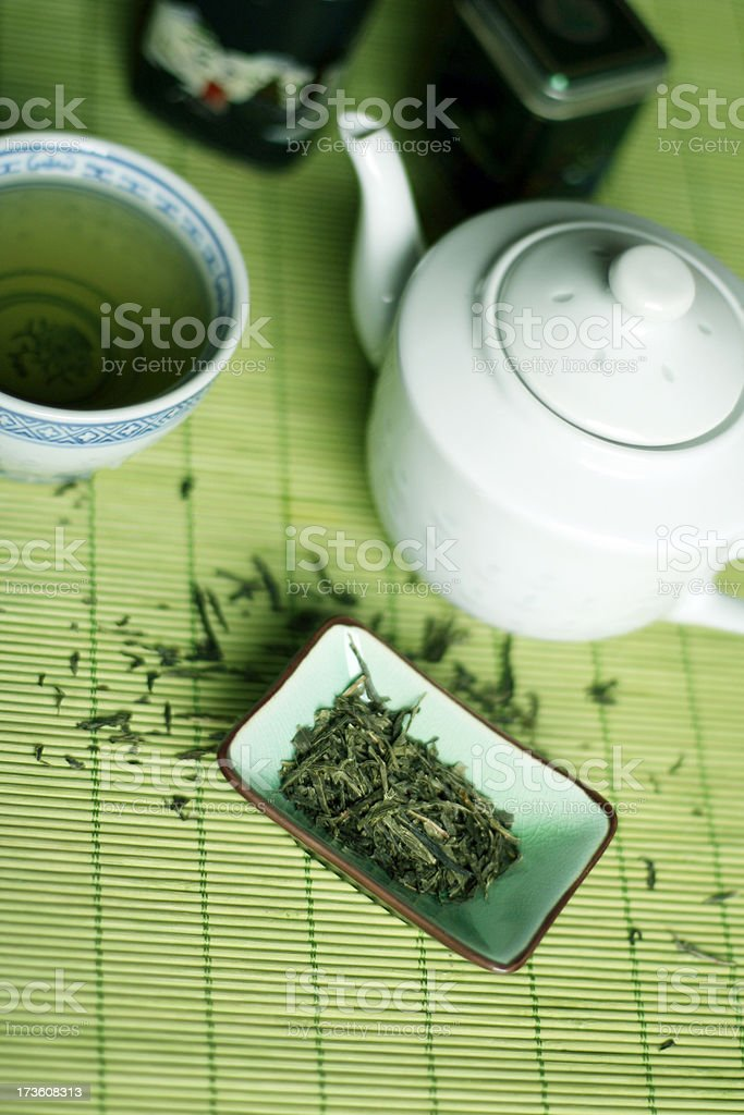 Organic Green Tea royalty-free stock photo