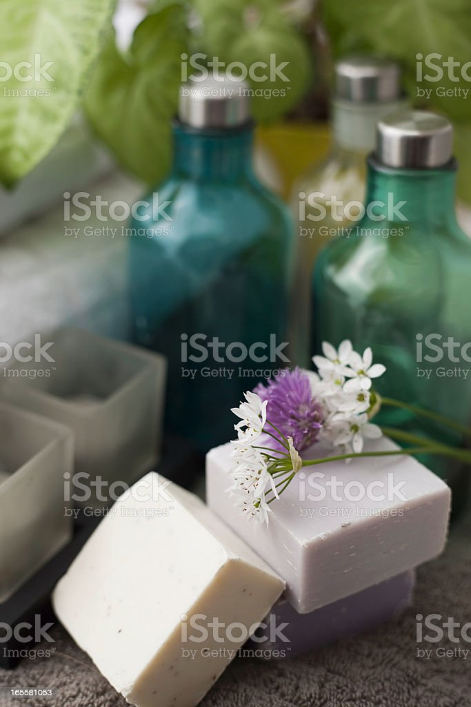 Organic hand made soaps royalty-free stock photo