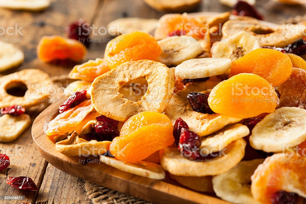 Organic Healthy Assorted Dried Fruit stock photo