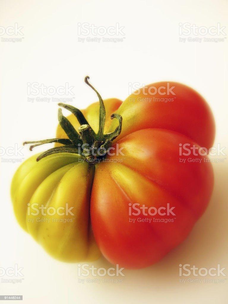 Organic Heirloom Tomato stock photo