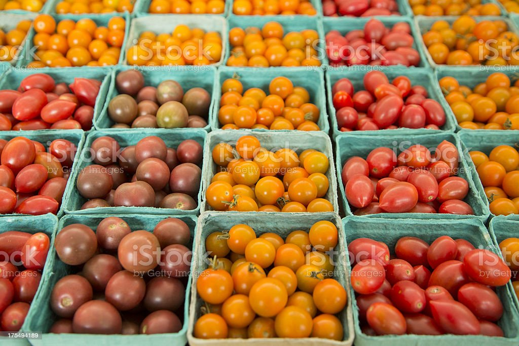 Organic Heirloom Tomatoes royalty-free stock photo