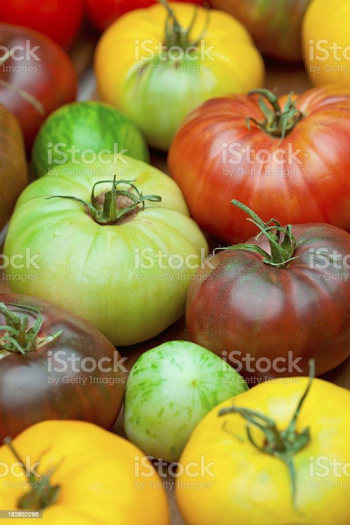 Organic Heirloom Tomatoes royalty-free stock photo