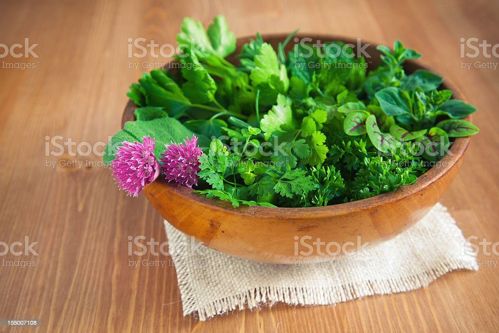 Organic Herbs stock photo