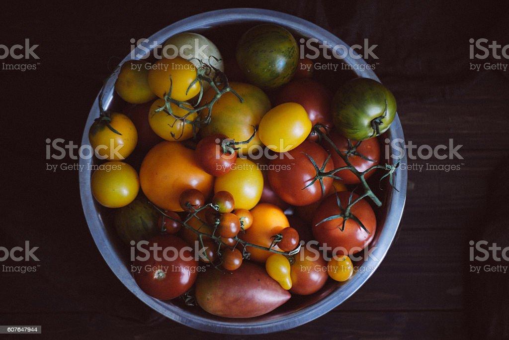 Organic Homegrown Fresh Summer Produce stock photo