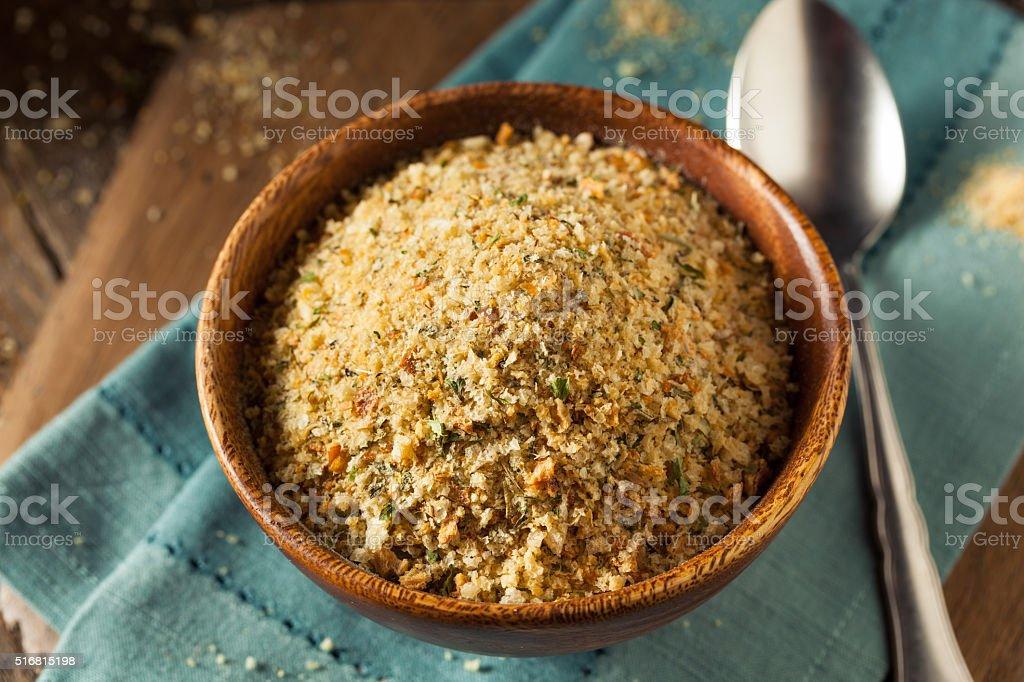Organic Homemade Bread Crumbs stock photo