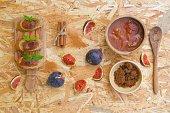 Organic homemade fig marmalade