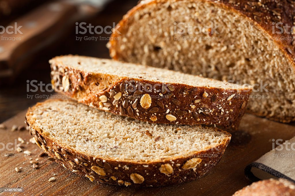 Organic Homemade Whole Wheat Bread stock photo