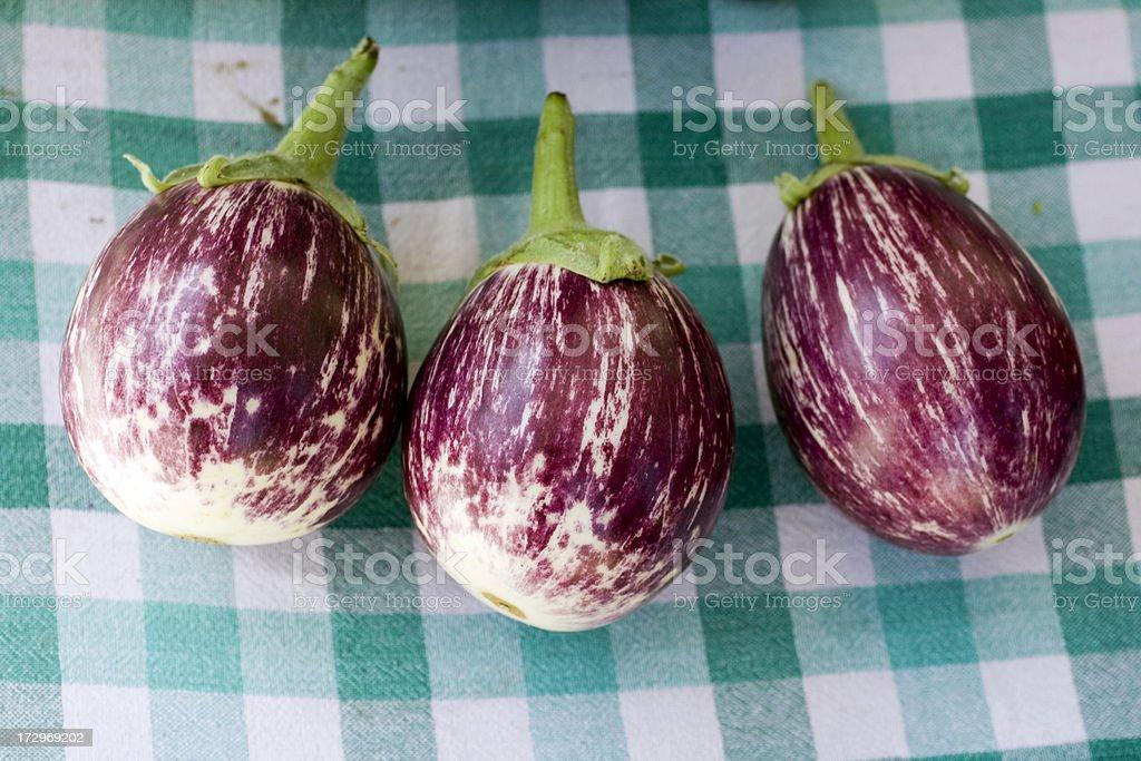 Organic Japanese Eggplant stock photo
