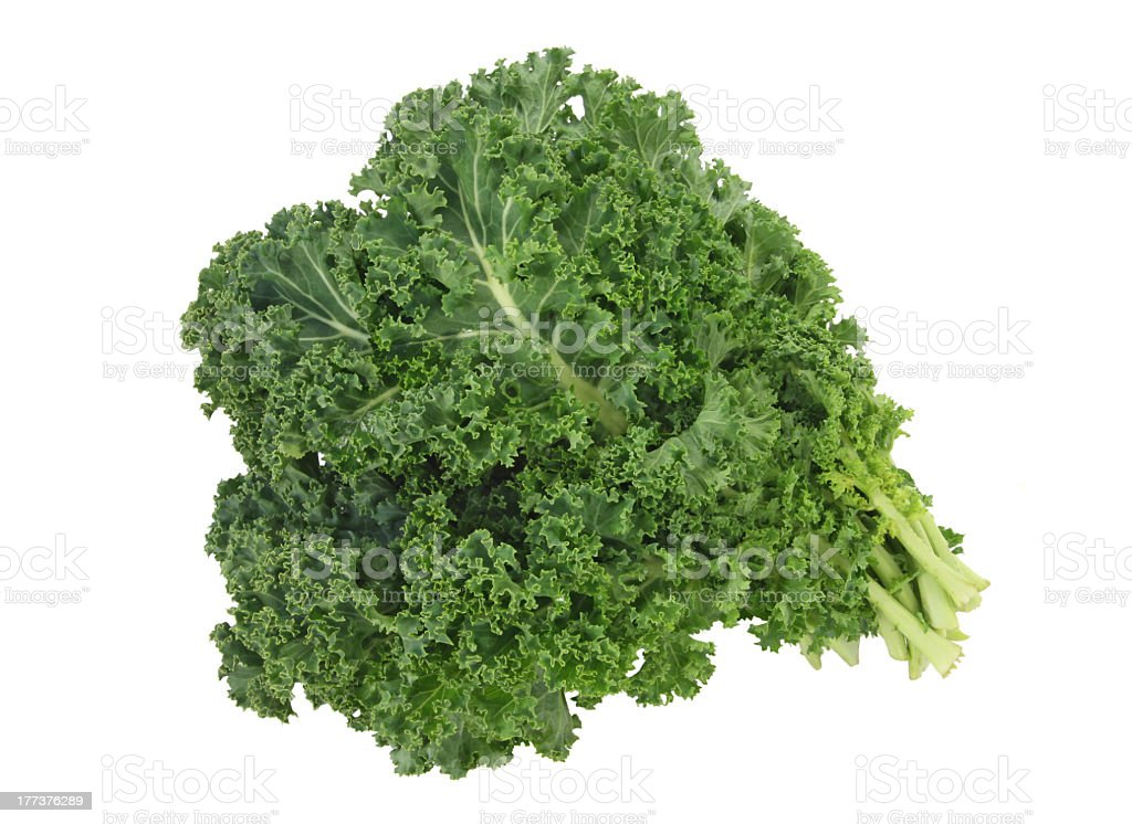 Organic kale isolated on white background stock photo
