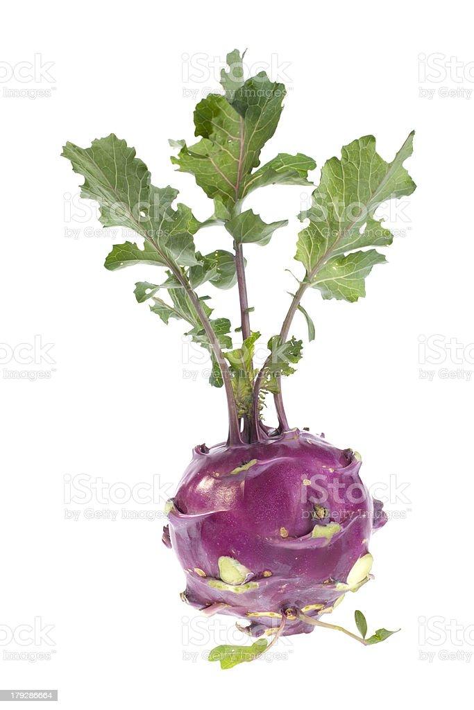 Organic Kohlrabi royalty-free stock photo