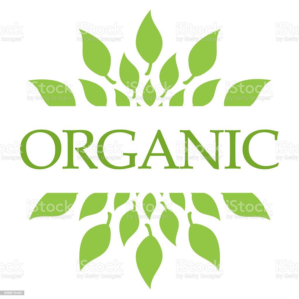 Organic Leaves Green Circular stock photo