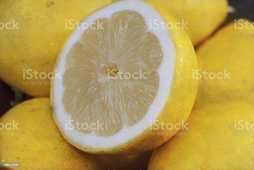 organic lemons royalty-free stock photo