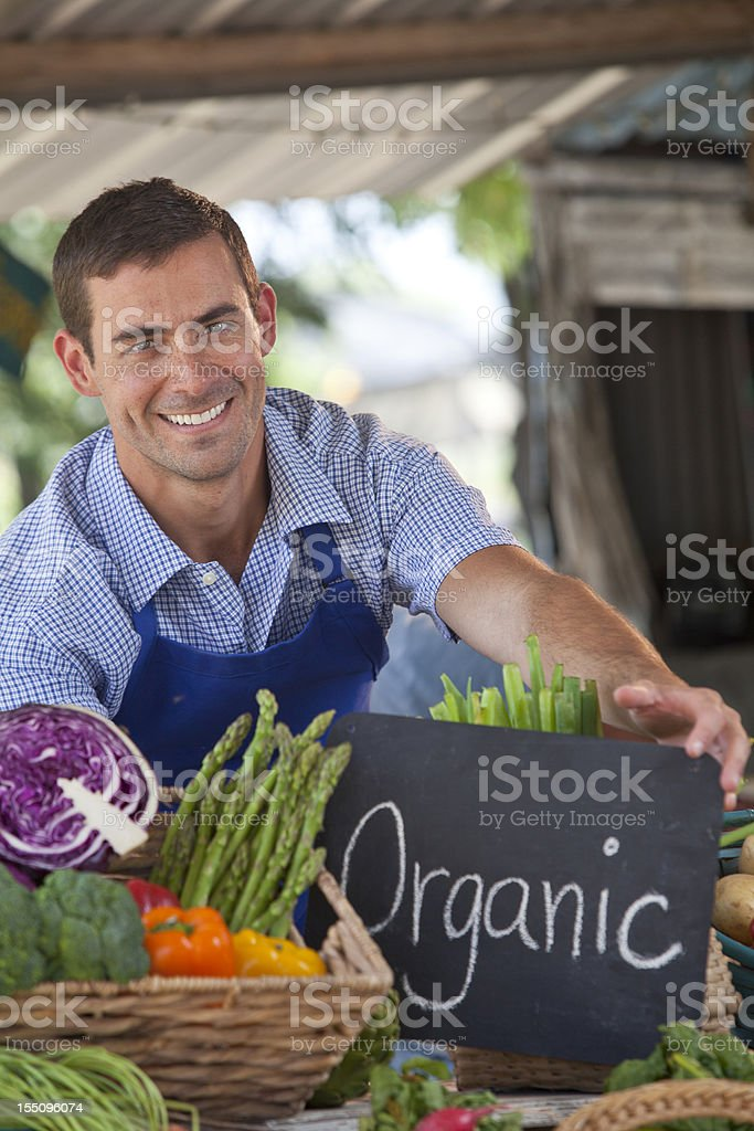 Organic market royalty-free stock photo