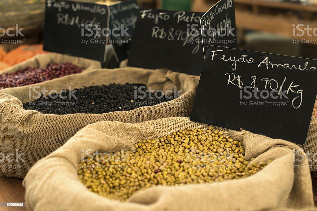 Organic market stock photo