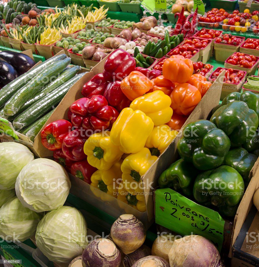 Organic Market stock photo