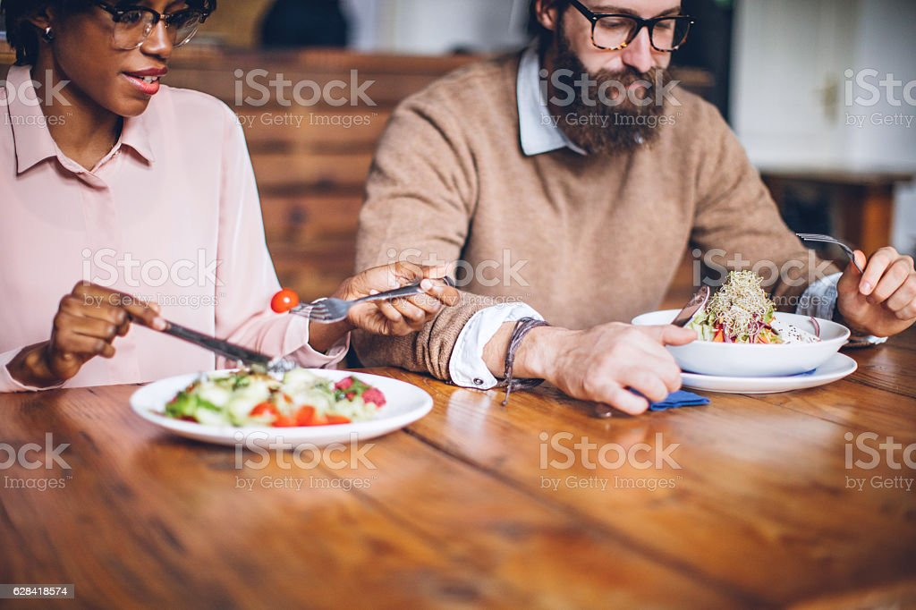 Organic meal for healthy life stock photo