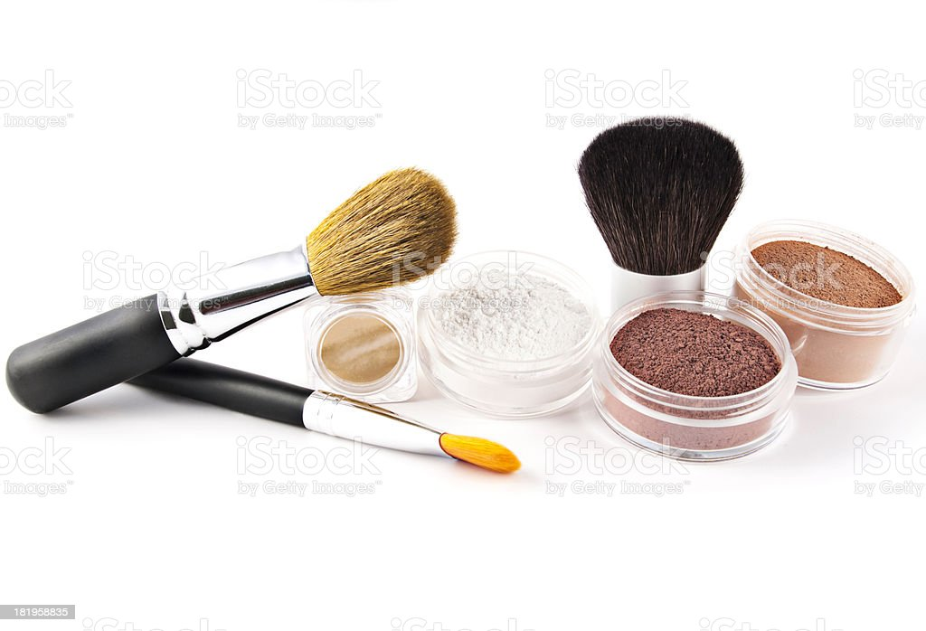 Organic Mineral Makeup stock photo