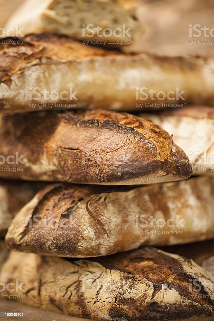 organic multigrain breads at the bakery royalty-free stock photo