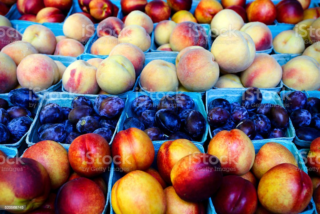 Organic Nectarine Plum Peach stock photo