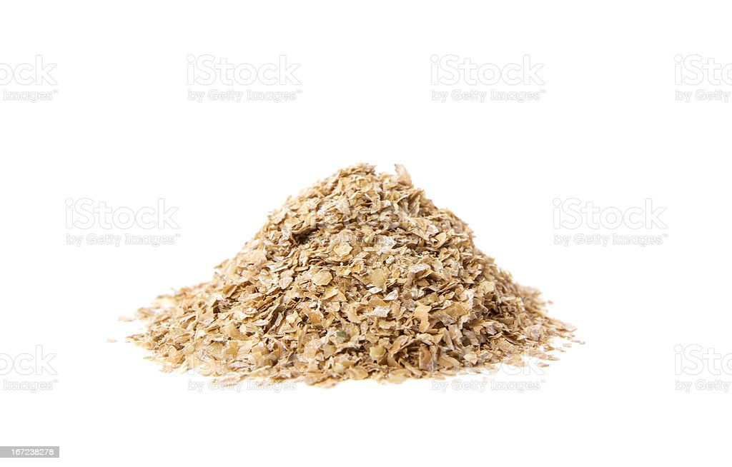Organic Oat Bran stock photo