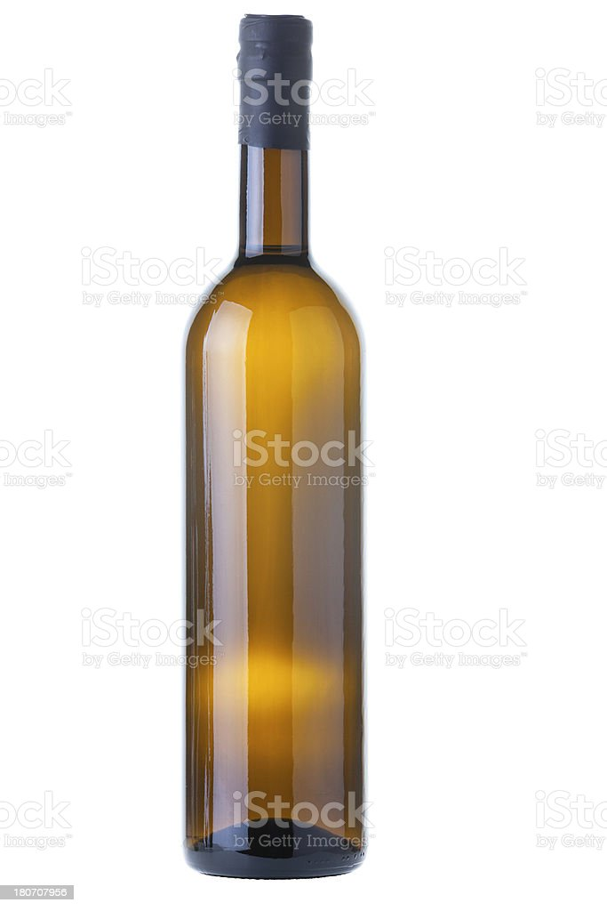 Organic Olive Oil or White Wine Bottle With Clipping Path royalty-free stock photo