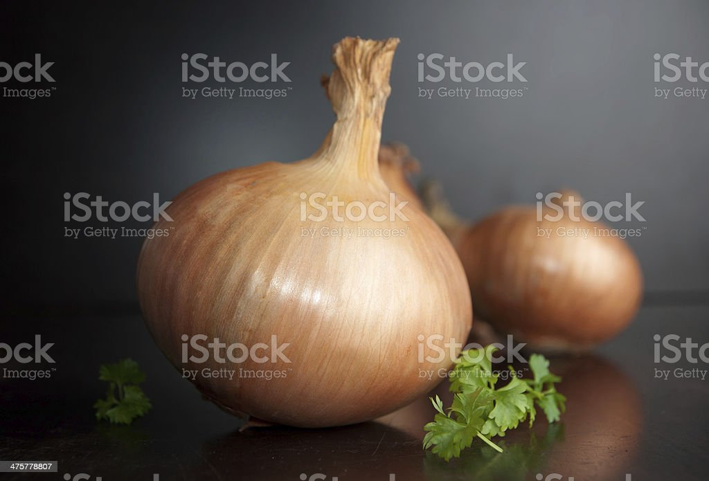 Organic onion stock photo