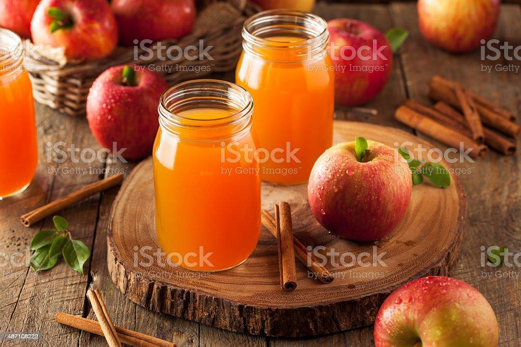 Organic Orange Apple Cider stock photo
