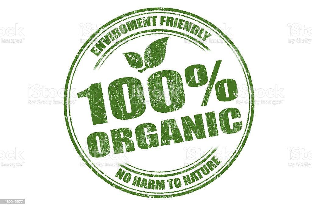 100% Organic stock photo