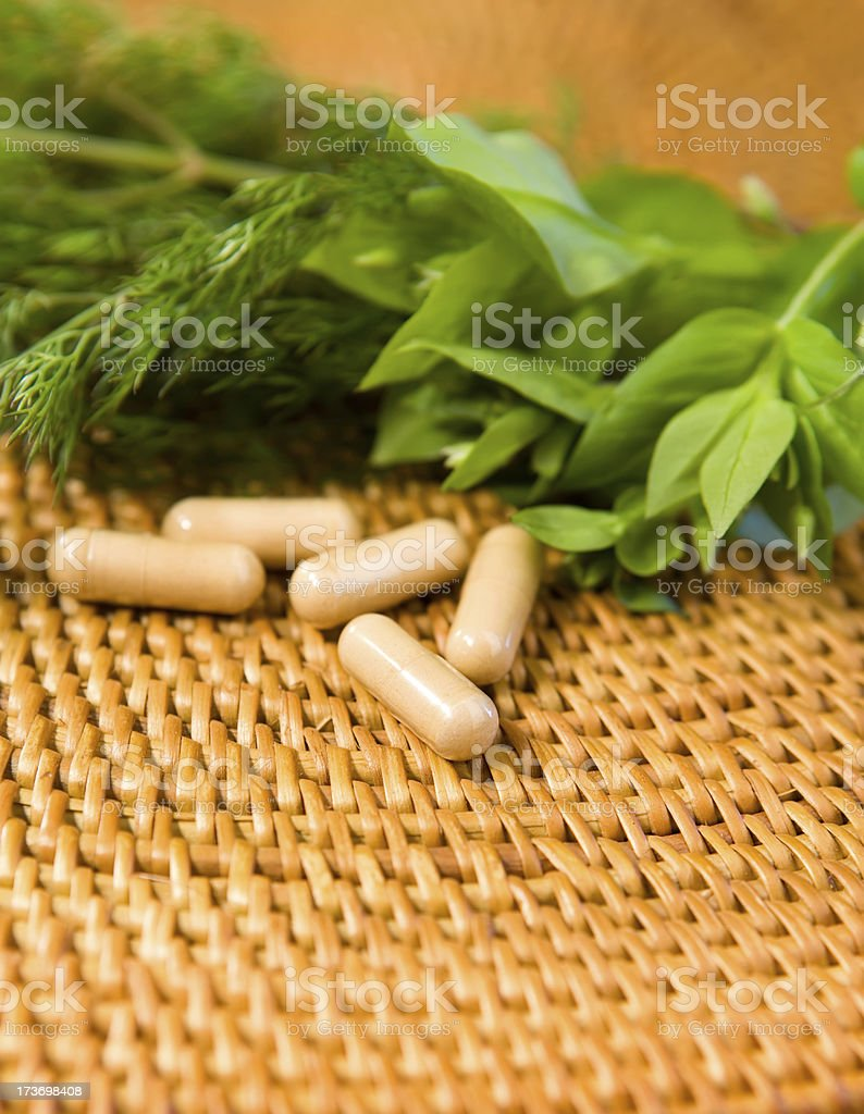 Organic Pills royalty-free stock photo