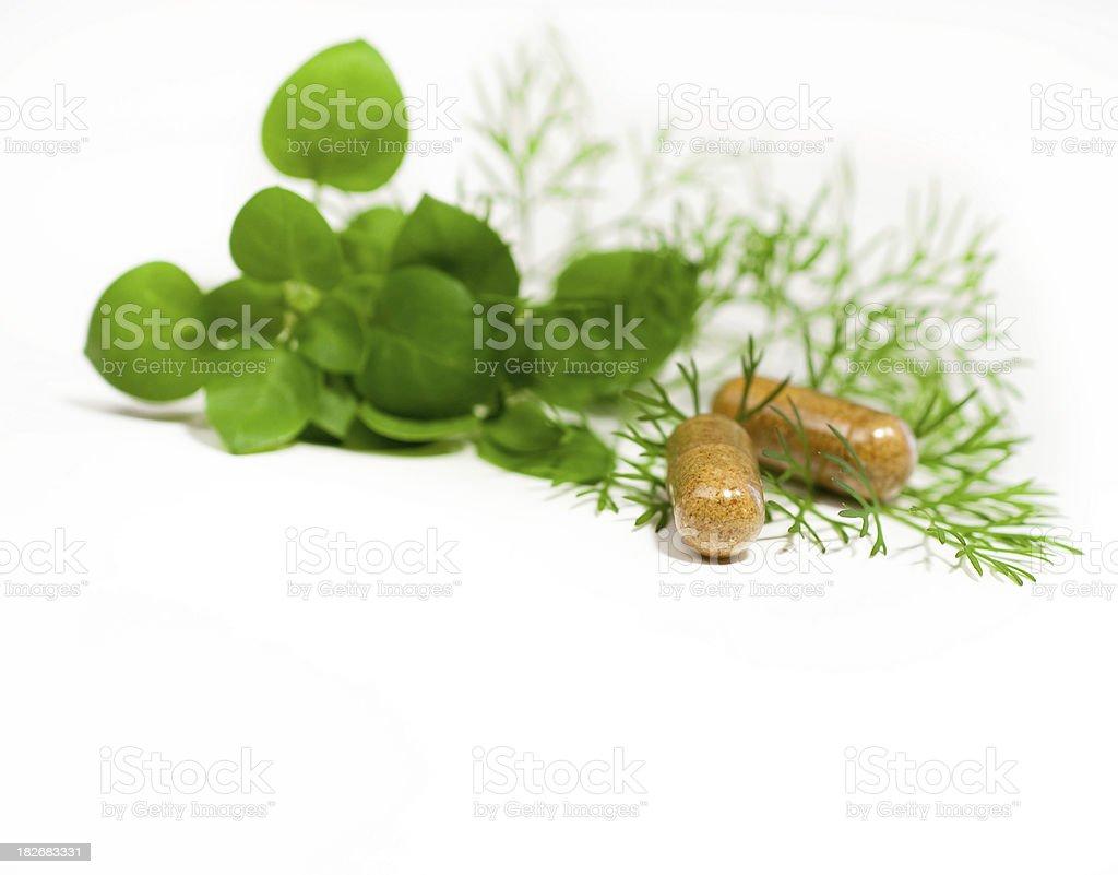 Organic Pills royalty-free stock photo