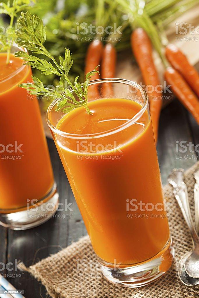 Organic Raw Carrot Juice stock photo
