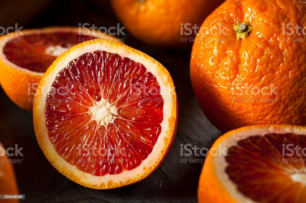 Organic Raw Red Blood Oranges stock photo