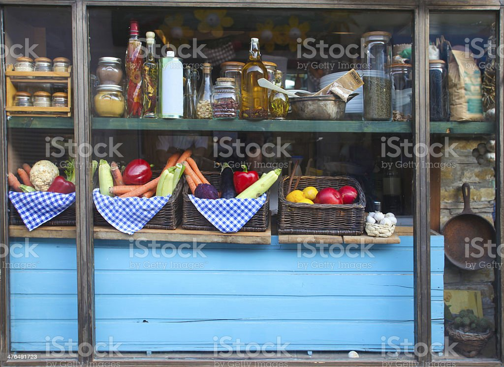 organic restaurant front royalty-free stock photo