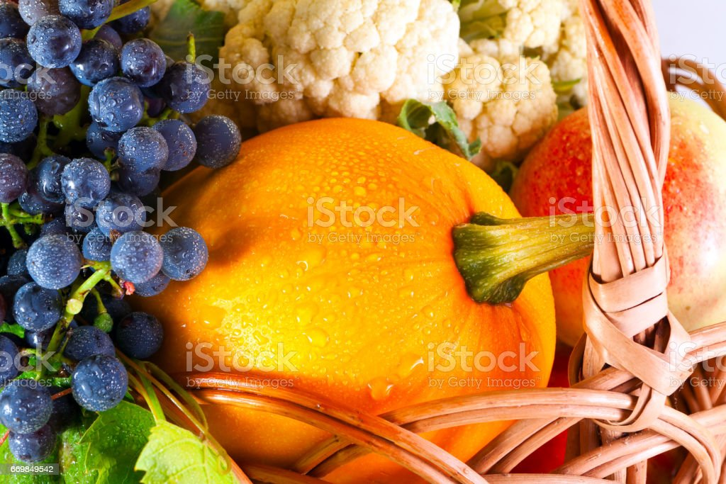 Organic ripe vegetables stock photo