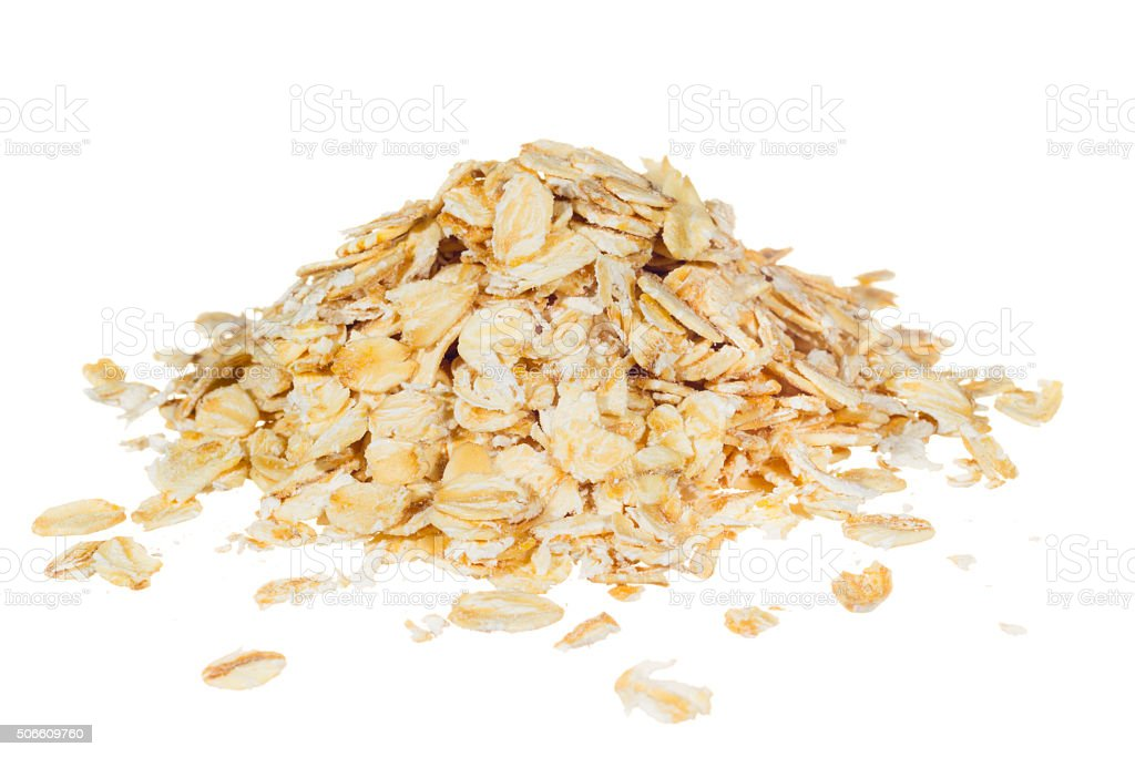 Organic rolled Oats stock photo