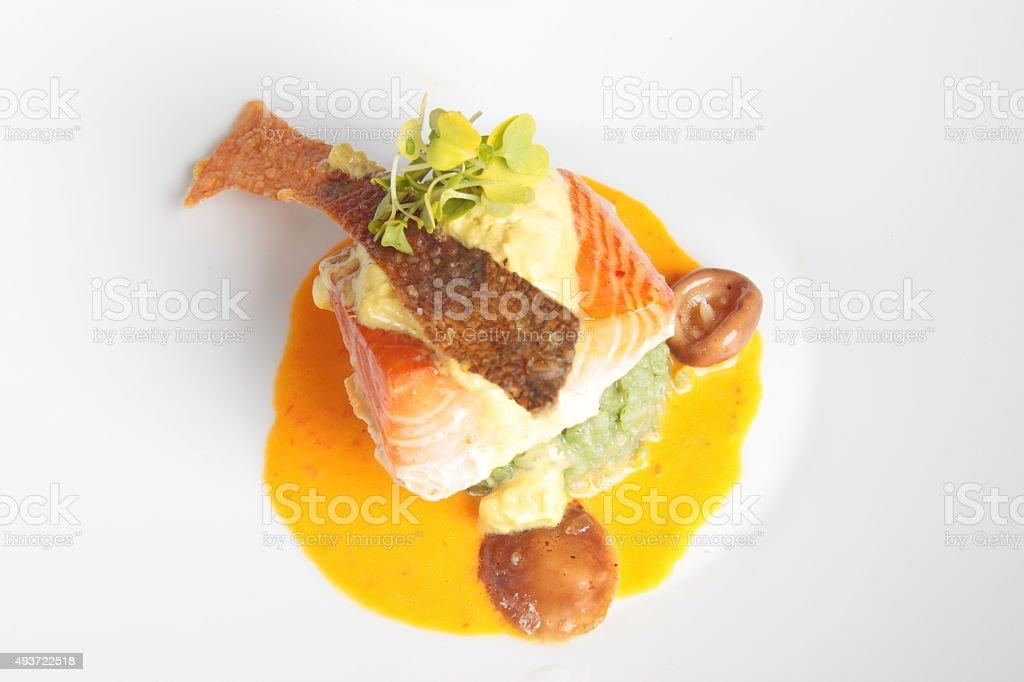 Organic Salmon stock photo