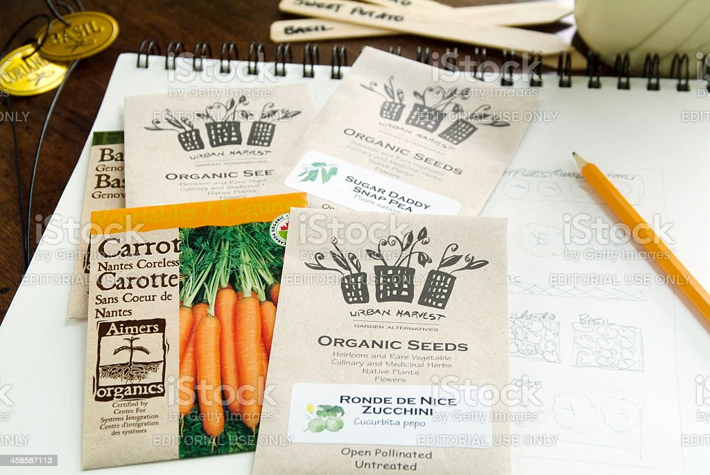 Organic Seed Packets royalty-free stock photo