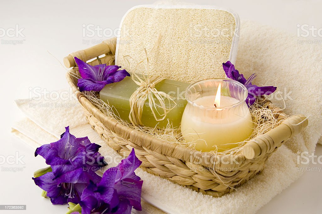 Organic spa products stock photo